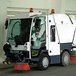 SMALL ROAD SWEEPER